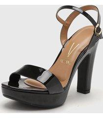 sandalia negra vizzano