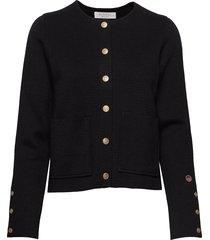 nilla jacket gebreide trui cardigan zwart busnel