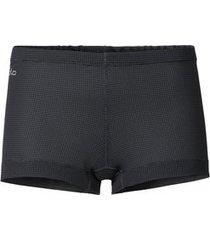 odlo ondergoed womens panty cubic ebony grey black