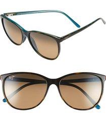 maui jim ocean 57mm polarizedplus2(r) sunglasses in tortoise/peacock/hcl bronze at nordstrom