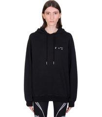 off-white ow logo sweatshirt in black cotton