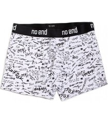 boxer blanco no end letras