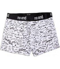 boxer blanco no end letras