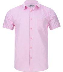 camisa m/c líneas delgadas color rosado, talla s
