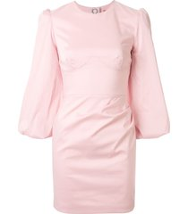 manning cartell cut-out 3/4 sleeves dress - pink