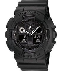 casio g-shock alarm chronograph black ops watch ga100-1a1 wristwatch