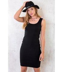 stretch jurk dames zwart