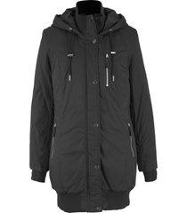 giacca lunga imbottita con cappuccio (nero) - bpc bonprix collection