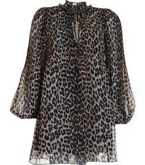 ganni jurk f4392 dierenprint