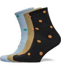 mix sock pack w.3 lingerie socks regular socks blå becksöndergaard