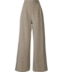ports 1961 high-rise tweed trousers - brown