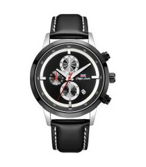 relógio cronógrafo philiph london masculino - pl80188622m prateado