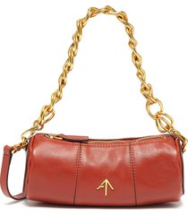 'mini cylinder' leather shoulder bag with chain