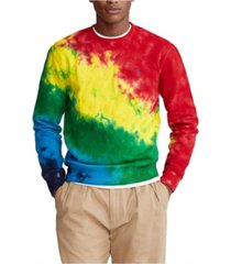 polo ralph lauren men's tie-dye terry sweatshirt