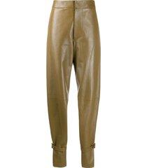 bottega veneta ankle strap trousers - brown