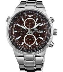 reloj orient ftt15003t cronografo 100% original-cafe