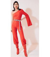 akira high road one shoulder jumpsuit