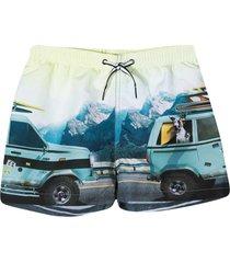 molo light blue bermuda shorts