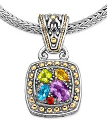 balissima by effy multistone square pendant (1-5/8 ct. t.w.) in 18k gold and sterling silver