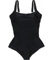traje de baño estilo falda negro samia