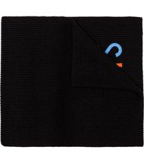 versace vintage 90s logo scarf - black