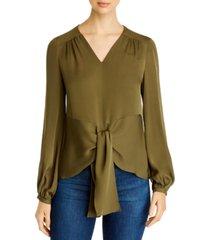 elie tahari kali silk blouse