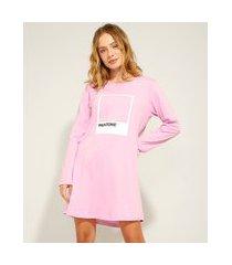 camisola manga longa pantone rosa