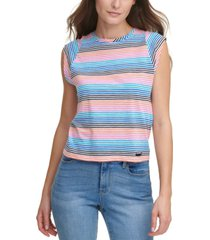 dkny jeans striped muscle tank top