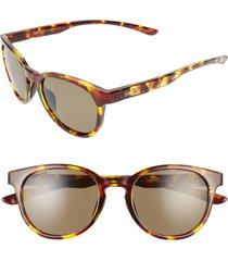 women's smith eastbank 52mm chromapop(tm) polarized round sunglasses - vintage tortoise/ green