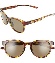 women's smith eastbank 52mm chromapop(tm) polarized round sunglasses - vintage tortoise/ green