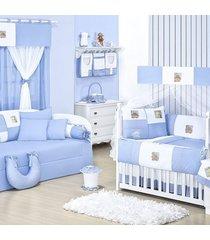 quarto completo padroeira baby baby zoo azul