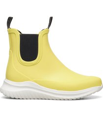 short rubber boots regnstövlar skor gul ilse jacobsen