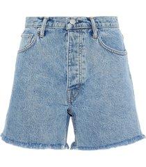helmut lang denim shorts