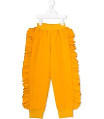 noon by noor mini lavender frill trimmed track pants - yellow