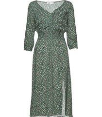 cutout knit midi dress knälång klänning grön hollister