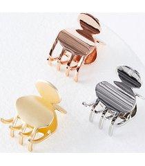 loft metallic claw hair clip set