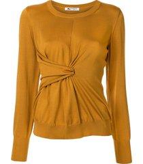 ports 1961 twisted-waist sweater - yellow