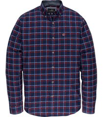 vanguard overhemd ruit blauw/bordeaux vsi197430/5331