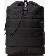 ecoalf roll-up backpack - black - u