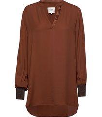 filine blouse blouse lange mouwen bruin second female