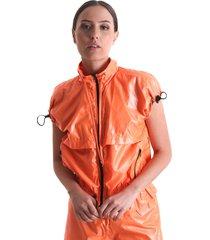colete com sobreposiã§ã£o e ajustes na manga  laranja  lãquido - laranja - feminino - dafiti