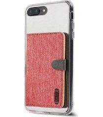 billetera ringke flip card holder para el iphone 7, android, samsung galaxy, lg - color rojo