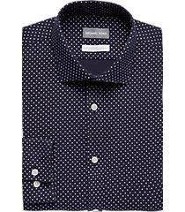 michael kors navy squares slim fit dress shirt