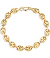 saks fifth avenue women's 14k yellow gold mariner link bracelet