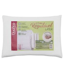 travesseiro duoflex altura regulável natural látex 50x70 branco