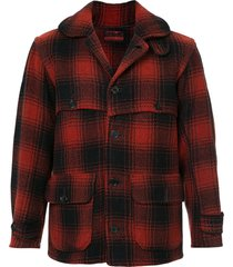 fake alpha vintage 1940s hunting jacket - red