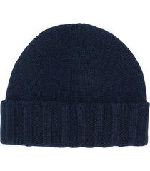 drumohr chunky knit beanie - blue