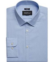 awearness kenneth cole light blue dot print extreme slim fit dress shirt