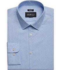 awearness kenneth cole light blue dot print extreme slim fit dress shirt