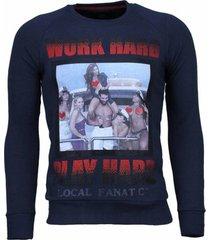 sweater local fanatic bilzarian - rhinestone sweater -